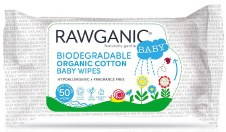 Rawganic Biodegradable Org Baby Wipes 50wipes