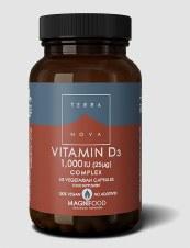 TerraNova Nutrition Vitamin D3 1000iu Complex   50 vcaps