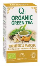 Qi Org Green Tea Turmeric Matcha 20bag