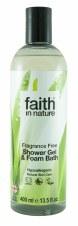 Faith in Nature Fragrance Free Shower Gel 400ml