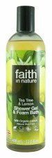 Faith in Nature Lemon & Tea Tree Shower Gel 400ml
