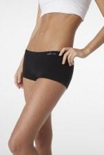 Boody Organic Bamboo Eco Wear Women's Boy Leg Brief -Black Medium/Large (UK Size 10-12)