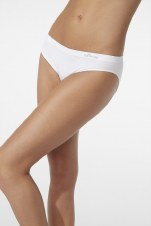 Boody Organic Bamboo Eco Wear Women's Classic Bikini -White Large (UK Size 12-14)