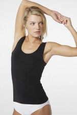 Boody Organic Bamboo Eco Wear Ladie's Tank Top - Black Large (UK Size 12-14)