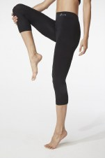 Boody Organic Bamboo Eco Wear 3/4 Leggings - Black Large (UK Size 12-14)