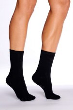 Boody Organic Bamboo Eco Wear Women's Everyday Socks- Black Size 3-9