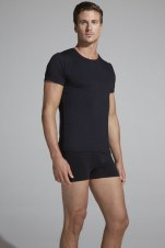 "Boody Organic Bamboo Eco Wear Men's Crew Neck T-Shirt Black Small - 92-96cms (36-38"")"