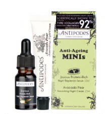 Antipodes                Anti-Ageing Minis Serum/Cream 10ml + 15ml