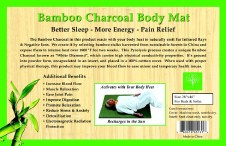 Healing Bamboo Body Mat Black One Size