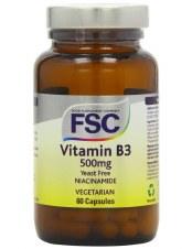 FSC Niacinamide (Vitamin B3) 500mg 60vegicaps