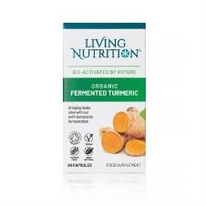Living Nutrition Organic Fermented Turmeric 60 caps