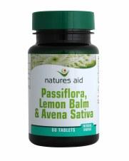 Natures Aid Passiflora Lemon Balm & Avena 60 tablets