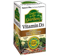 Nature's Plus Organic Garden Vitamin D3 60 vegicaps