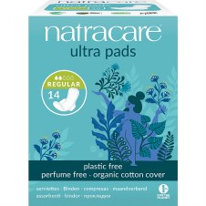 Natracare Ultra pad with wings regular 14pieces