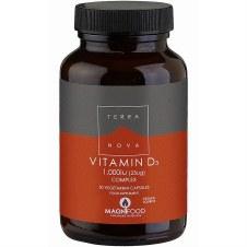 Terranova Nutrition Vitamin D3 1000iu Complex  50