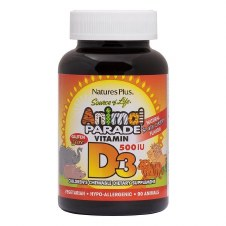 Nature's Plus Vitamin D3 Berry 500iu 90 animals