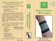 Healing Bamboo Wrist Support One Pair