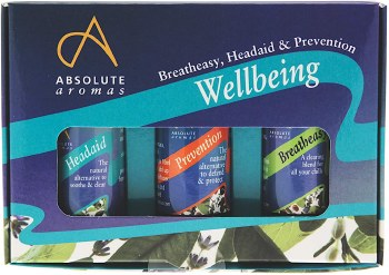 Absolute Aromas Wellbeing Kit 3 x 10ml