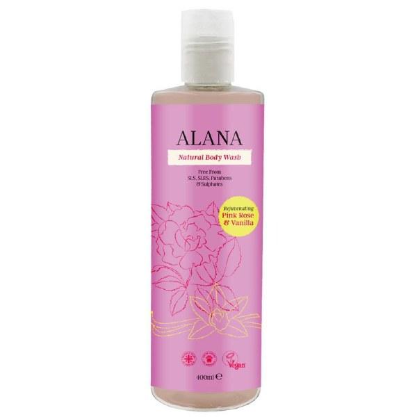 Alana Rejuvenating Pink Rose & Vanilla Body Wash - 400ml