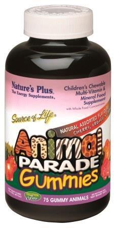 Animal Parade Children's Chewable Multivitamin & Mineral Gummies - Natural Assorted flavour
