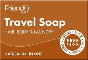 Friendly Soap Travel Soap for Hair, Body & Laundry - 95g