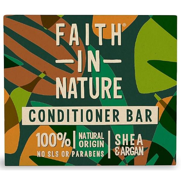 Faith in Nature Shea & Argan Conditioner Bar   Plastic Free