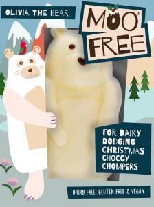 Moo Free Olivia the Bear - Dairy Free White Chocolate Bear