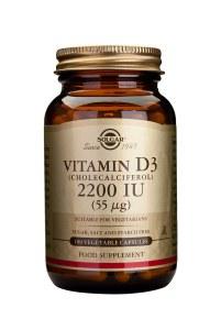 Solgar Vitamin D3 2200IU - 100 Vegetarian Capsules