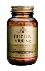 Solgar Biotin 5000ug - 100 Capsules