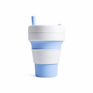 Stojo Biggie Collapsible Cup - Sky   Reuseable   BPA Free