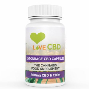 Love CBD Entourage CBD 600mg | 60 Capsules