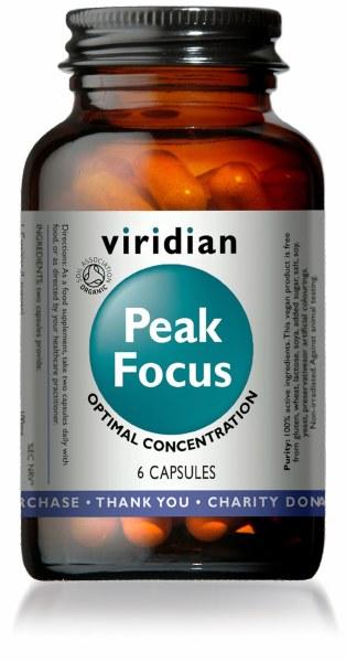 Viridian Peak Focus Capsules - Bottle of 6