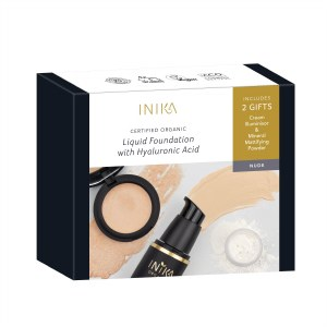 Inika Fresh & Flawless Liquid Foundation Set - Nude