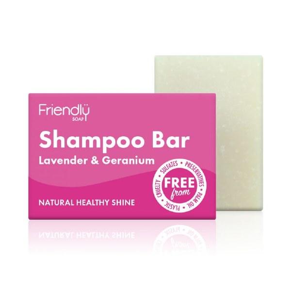 Friendy Soap Shampoo Bar - Lavender & Geranium 95g