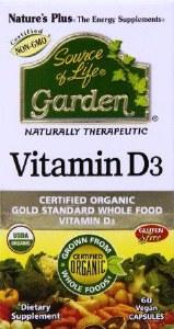 Source of Life Garden Vitamin D3 Capsules | Organic & Vegan