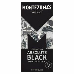 Montezuma's Absolute Black Chocolate 100% Cocoa - 90g