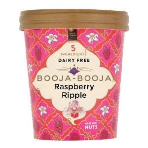 Booja Booja Organic Raspberry Ripple Ice Cream - 500ml