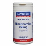 Lambert's High Strength Nicotinamide (Vitamin B3) 250mg - 100 Tablets