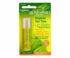 Optima Australian Tea Tree Organic Lip Balm SPF 15