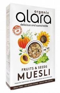 Alara Organic Fruit & Seeds Muesli 650g - No Added Sugar