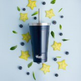 Cheeki Stainless Steel Vacuum Insulated Tumber with Straw in Ocean Blue
