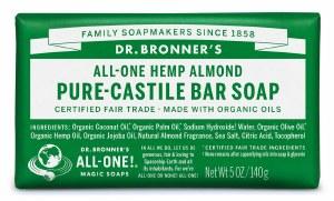 Dr. Bronner's Pure Castile Soap Bar - Almond