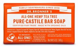 Dr. Bronner's Pure Castile Soap Bar - Tea Tree