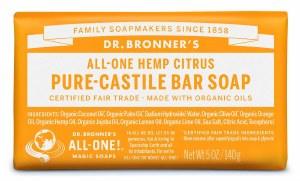 Dr. Bronner's Pure Castile Soap Bar - Citrus-Orange