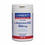 Lamberts Pure Grade L-Arginine 1000mg | 90 Tablets