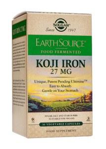 Solgar Earth Source Food Fermented Koji Iron - 60 Capsules