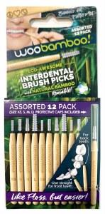 Woobamboo Interdental Brush Picks - Assorted 12  Pack