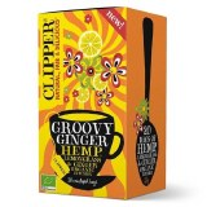 Clipper Groovy Ginger Lemongrass & Hemp Tea Bags x 20