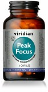 Viridian Peak Focus Capsules for Optimal Concentration - Bottle of 6