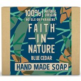 Faith in Nature Hand Made Blue Cedar Soap Bar | 100% Natural